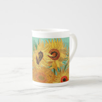Vincent Van Gogh tolv solrosor i en vas Tekopp
