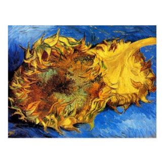 Vincent Van Gogh - två klippta solrosor - konst Vykort