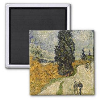 Vincent Van Gogh | väg med Cypresses, 1890 Magnet