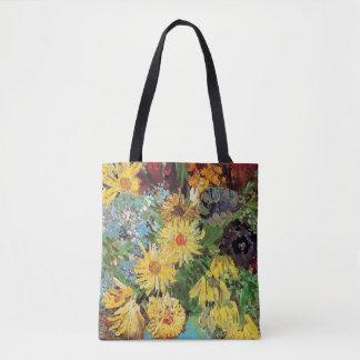 Vincent Van Gogh - vas med daisy och anemoner Tygkasse