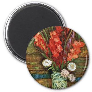 Vincent Van Gogh - vas med röda Gladioli Magnet