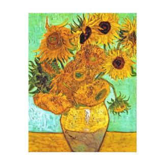 Vincent Van Gogh - vas med tolv solrosor Canvastryck