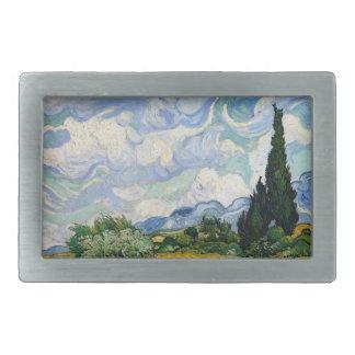Vincent Van Gogh vetefält med Cypresses