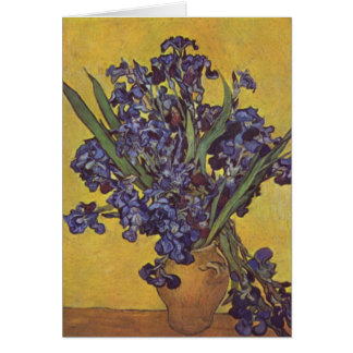 Vincent Willem Van Gogh Irisblommor Hälsningskort