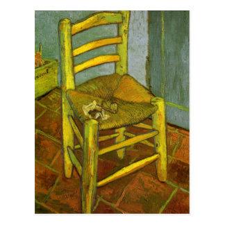 Vincents stol med hans leda i rör vid Van Gogh Vykort