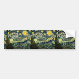 Vincents Van Gogh Starry natt (1889) Bildekal
