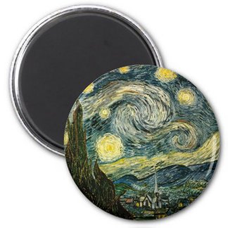 Vincents Van Gogh Starry natt (1889) Magnet