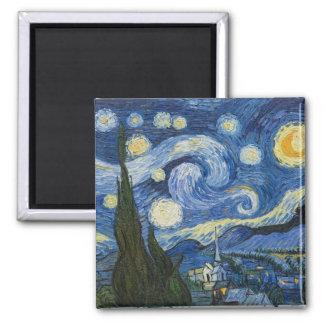 Vincents Van Gogh Starry natt Magnet