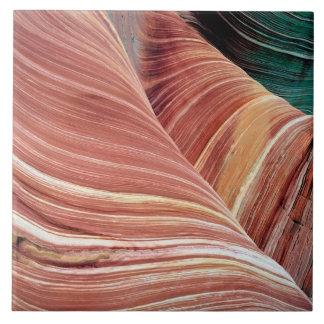 Vind och vatten eroderad Navajosandsten in Kakelplatta