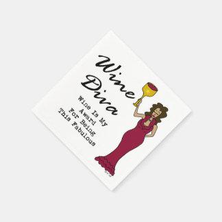 """Vindivaen """"vin är min utmärkelse för att vara servetter"""