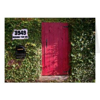 Vines med den röda dörren hälsningskort