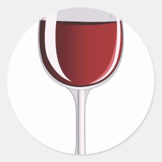 Vinexponeringsglas Runt Klistermärke