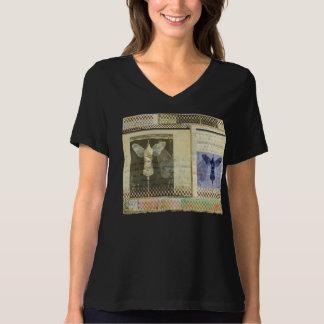 Vingar-Flyg 8 Bella avkopplad passform, V-Nacke T Shirt