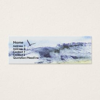 Vingar över akvarell för vatten   litet visitkort