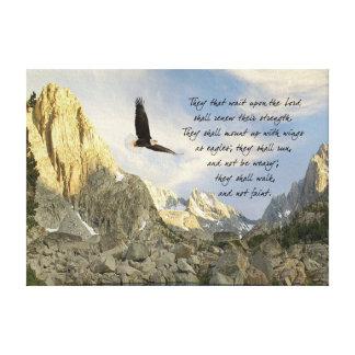 Vingar som örnar Isaiah 4o Canvastryck