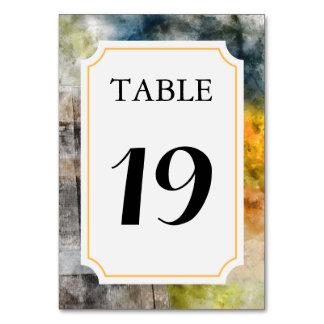 Vingård eller vinodling som gifta sig bordsnummer