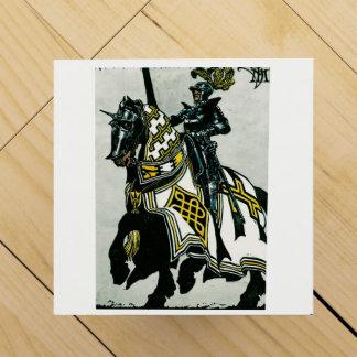 Vingiftbox med riddaren på hästrygg avbildar vinlåda