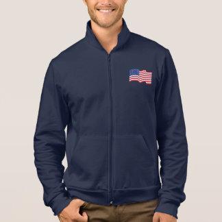 Vinka amerikanska flagganjackan jacka med tryck