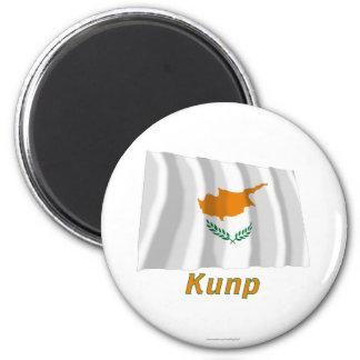Vinka den Cypern flagga med namn i ryss Magnet