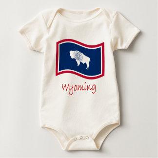 Vinka den Wyoming flagga och namn Sparkdräkt
