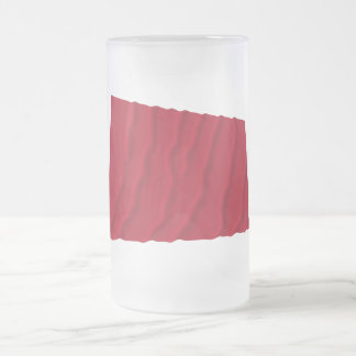 Vinka flagga av Alabama de röda roversna Frostad Glas Mugg