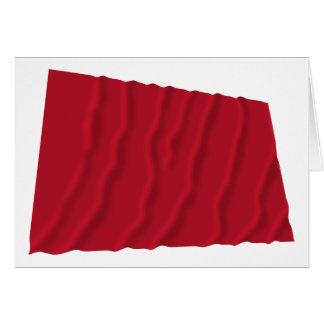 Vinka flagga av Alabama de röda roversna Hälsningskort