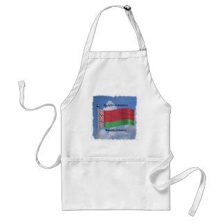 Vinka flagga av Vitryssland Förkläde