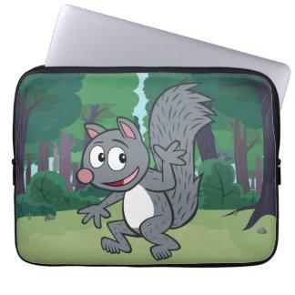 Vinka för ekorre för grått för skogsvaktarestack | laptop fodral