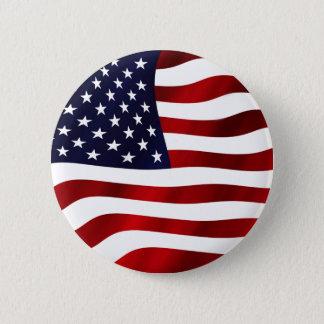 Vinka U.S.-flagga Standard Knapp Rund 5.7 Cm