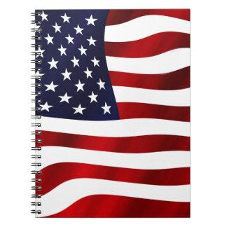 Vinka US-flagga Anteckningsbok