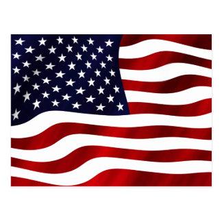 Vinka US-flagga Vykort