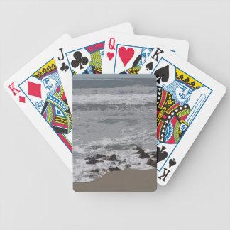 Vinkar att krascha på till stranden spelkort