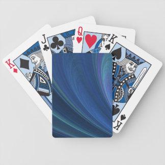 Vinkar den mjuka sanden för blått och för grönt spelkort