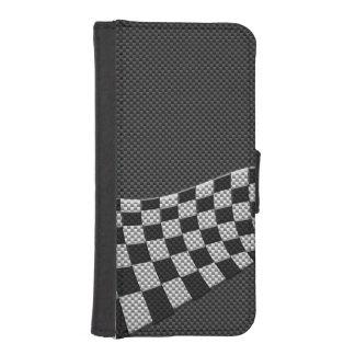 Vinkar den tävlings- flagga för kolstil dekoren plånbok för mobil