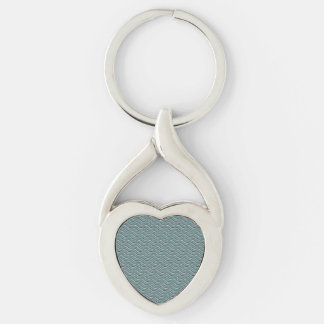 Vinkar linneLook för hav Twisted Heart Silverfärgad Nyckelring