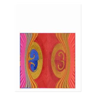 Vinkar mönster - dramatisk förpjäs vykort