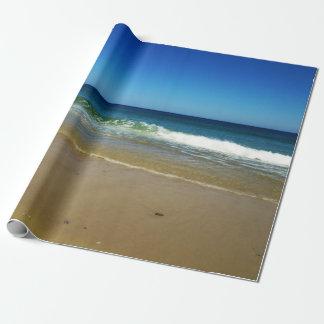 Vinkar och sandig strand för hav presentpapper