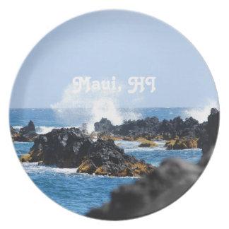 Vinkar på den Maui kusten Tallrik