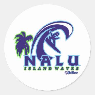 Vinkar produkt för ö NALU01 Runt Klistermärke