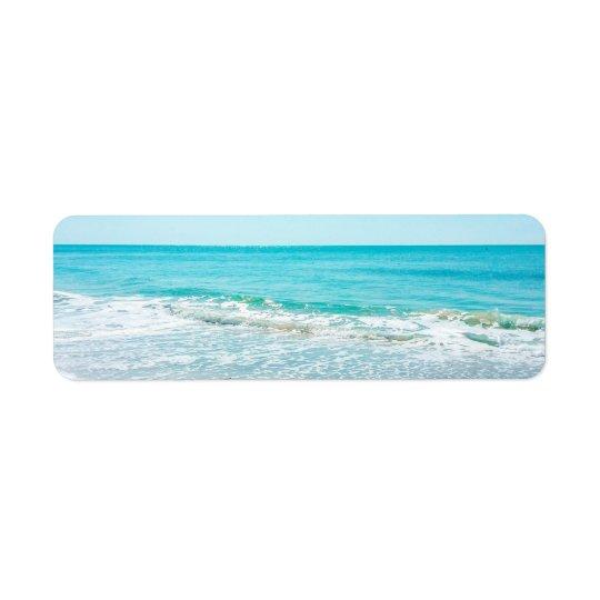 Vinkar Sandpiper för tropiskt hav för Florida Returadress Etikett
