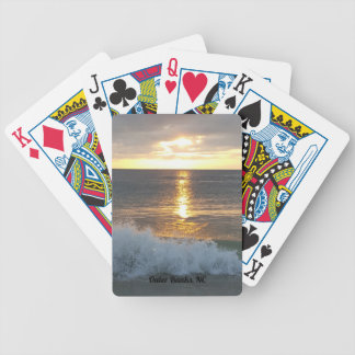 Vinkar soluppgång för hav i den yttre banker, NC Spelkort