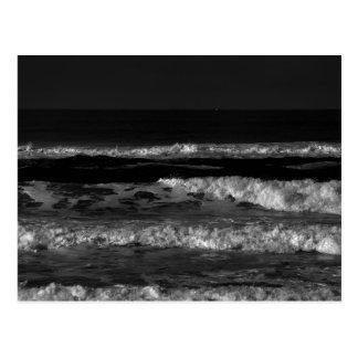 Vinkar vykort för svartvitt Stilla hav