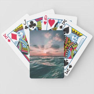 Vinkara kort för hav spelkort