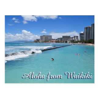 Vinkart Waikiki strandHonolulu Hawaii Stilla hav Vykort