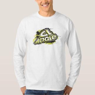 "Vinkel""böjapparat 2"" Longsleeve utslagsplats - vit T-shirt"