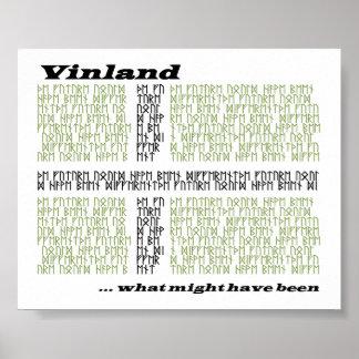 Vinland Runic flagga - vilken styrka har varit Affisch