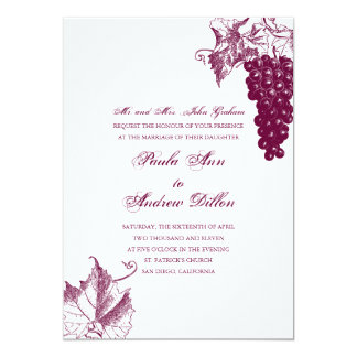 Vinlandsbyggsbröllopinbjudan 12,7 X 17,8 Cm Inbjudningskort