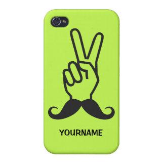 Vinnande mustaschanpassningsbarcases iPhone 4 skydd