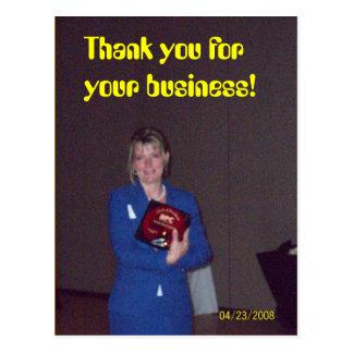 vinnande utmärkelse, tacka dig för din affär! vykort