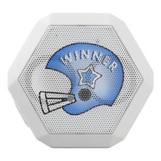 VINNARE för blåttfotbollhjälm och stjärnahögtalare Vit Bluetooth Högtalare